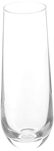 Stemless Champagne Flute Glasses Set of 4