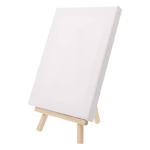 SimpleLife Wood Display Easel con Artist Blank Canvas Frame Set para Art Painting Drawing Craft Wedding Supply