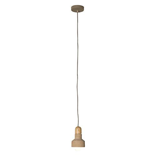 belssia Lamp Pendel E27, 60 W, Wit en Beige, 12 x 12
