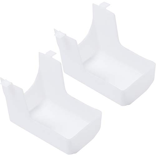 Ultra Durable 99110437 Range Hood Light Lens Replacement Part by Blue Stars - Exact Fit for Broan Range - Replaces 88169 E2099110437 S99110437 AP3379470 - PACK OF 2