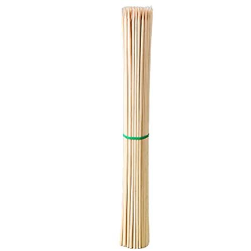SHHMA Bamboo Pinchos 50 cm Palos de bambú SHISH Kabob PENSILLOS para LA Parrilla, Aperitivo FRUITO Coctail 350PCS