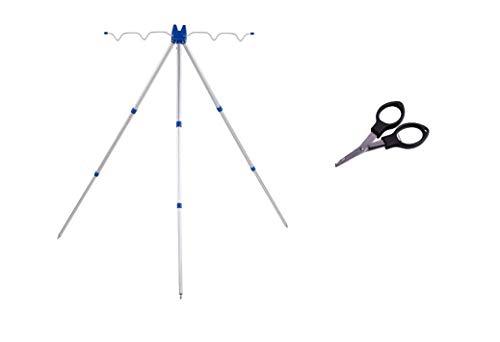 Tripod - Soporte telescópico para caña de pescar (aluminio, 50 cm -...