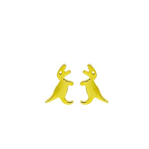 floweragrant Pendientes De Plata para Mujeres,Pendientes De Botón De Dinosaurio Pequeño Dulce De Plata De Ley 925 Auténtica A La Moda para Mujeres Y Niñas, Joyería De Plata Fina, Regalo Ed54