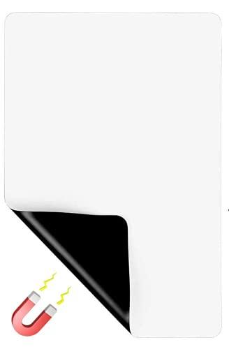 JIUWEI Pizarra blanca magnética de borrado en seco A4 A3 pizarra blanca magnética flexible de borrado en seco Pizarra de notas magnética para frigorífico y tablero de anuncios (A3)