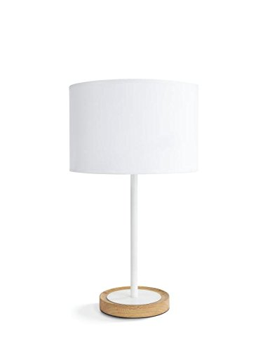 Philips Lighting myLiving Lámpara de mesa E27, iluminación interior, 40 W, blanco, Tischleuchte