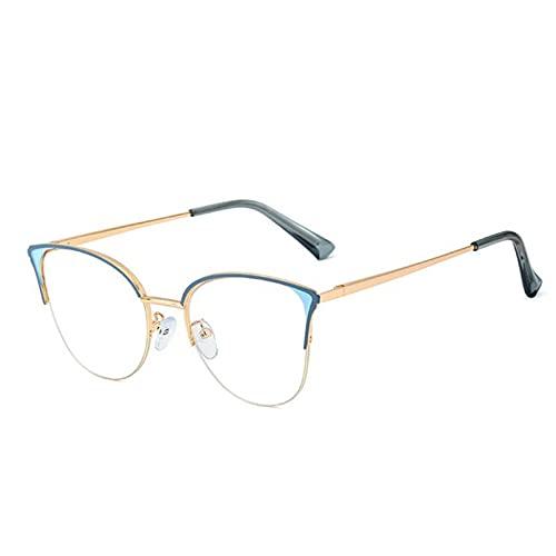 YTYASO Marcos de Ojo de Gato Rojo, Gafas de luz Azul, Gafas Falsas, decoración, Marco de anteojos para Mujer, Ojo Protector