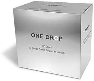 One Drop Universal Diabetes Lancets | 100 Lancets, 33 Gauge