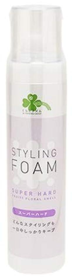 ブロック皮農村くらしリズム スタイリングフォーム スーパーハード フルーティフローラルの香り (165g) スタイリング剤
