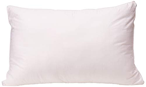 Mastertex SYNCHKG055551 Down Alternative Bed Pillow Cotton Cover Super Plush Microfiber Fill Hypoallergenic and Allergy Safe Soft and Breathable Queen Size (20x30x1.5)