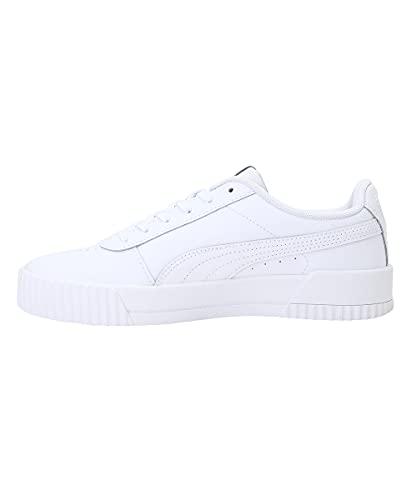 PUMA Carina L, Zapatillas Bajas Mujer, Blanco (White/Silver), 39 EU