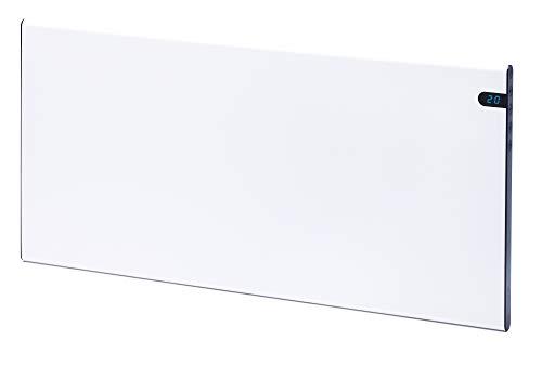 Radiador Eléctrico Calefactor 600 W Altura 37 cm Elegante y fino Bajo consumo Pantalla LED programable