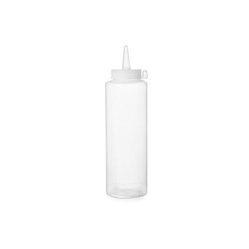 HENDI Spenderflasche, Easy Squeeze, Stückzahl: 1, Spritzflaschen, Squeezeflasche, 0,2L, ø50x(H)185mm, Polypropylen, Transparant