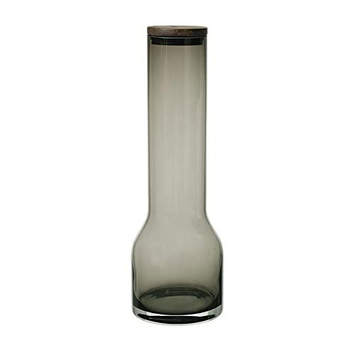 Blomus Lungo L 64170 - Jarra de agua (cristal, roble, silicona, 1,1 L), color gris