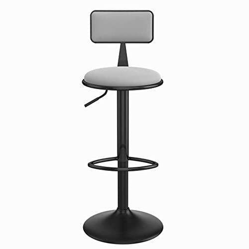 Sgabelli da bar per cucine Sgabello alto moderno ed elegante regolabile da 24,4 pollici ~ 30,7 pollici Sgabelli da bar girevoli 360 Sgabello da cucina con schienale in pelle PU per sedie da cucina da