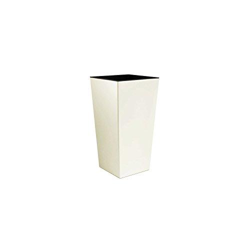 "Prosper Plast durs140-cy72814x 14x 26,5cm\""Urbi\"" quadratischer Blumentopf–Creme (12-teilig)"