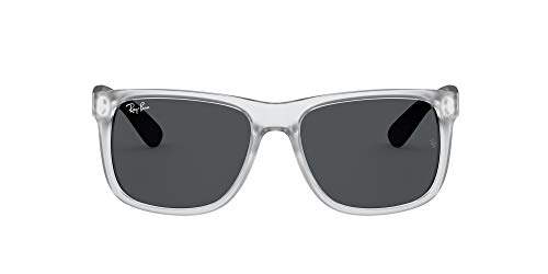 Ray-Ban 0RB4165 Gafas, RUBBER TRANSPARENT, 51 Unisex