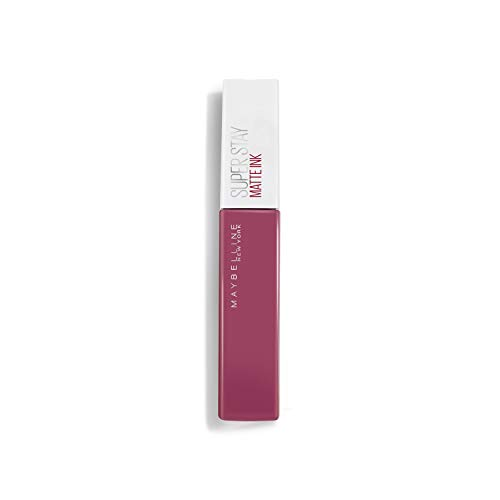 Maybelline New-York – Rouge à Lèvres Mat Liquide – Longue Tenue – Superstay Matte Ink – Teinte : Lover (15), 5 ml