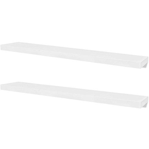 vidaXL 2 estanterías suspendidas de Tablero MDF Blanco para