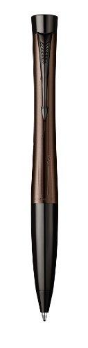 Parker - Urban Premium: Penna a Sfera Marrone Metallizzato CT, Finiture Cromate, Meccanismo Twist.