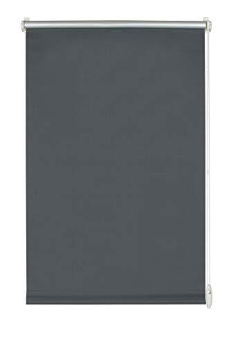 Yoursol Verdunkelungsrollo EasyFix 80x150 cm, Anthrazit, ohne Bohren, Verdunklungsrollo, Thermorollo, Seitenzugrollo, Klemmrollo für Fenster und Tür