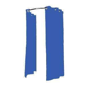 metalarredo Struttura a Parete per camerino con Tenda in Cotone (Blu)