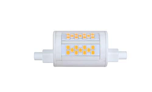 ECOBELLE® 1 x 12W R7s LED Leuchtmittel Lampe *MINI HYPERNOVA FOCUS*, 1550 Lumen (Hohe Lumen Lampe!!!), warm-weiß 3000K, 78 mm, 270° mit Gehäuse aus Keramik für bessere Kühlung (LED Konzentrierte!!!)