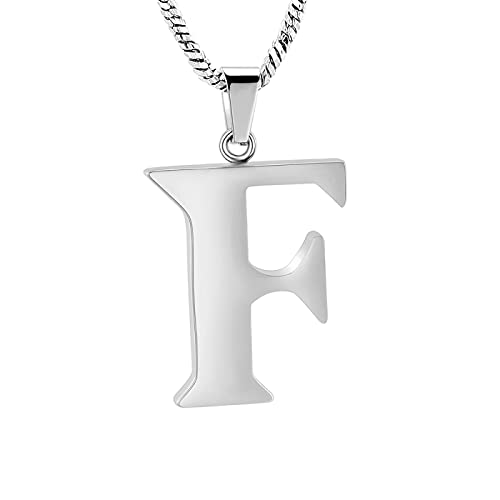 Initial 26 Letter Necklace for Women 925 Sterling Silver Alphabet Initial Pendant Necklace Personalised Gifts Ladies Girls F