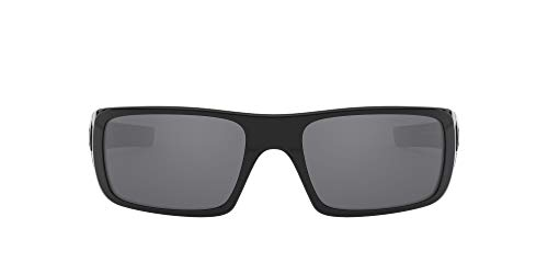 Oakley - Gafas de sol Rectangulares Crankshaft para hombre, Polished Black/Black Iridium