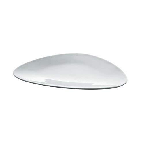 Alessi Fm10/1 Colombina Collection Assiette Plate en Porcelaine Blanche, Set de 6 Pièces