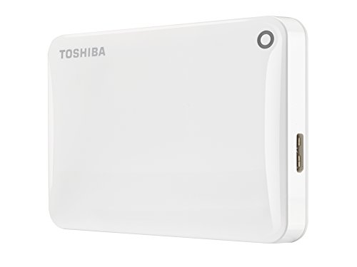 Toshiba Canvio Connect II - Disco duro externo de 1 TB (USB 3.0, 6,35 cm (2.5')), blanco
