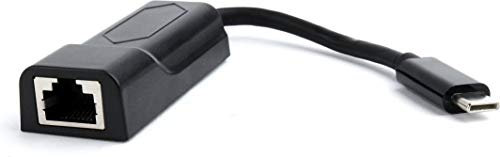 Gembird A-CM-LAN-01 Ethernet 1000 Mbit/s kaart en netwerkadapter – kaarten en netwerkadapter (bekabeld, USB C, Ethernet, 1000 Mbit/s, zwart)