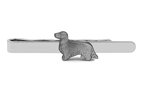 Gemelolandia - Pasador de Corbata Perro raza Collie color plateado 18mm | Pisa Corbatas Para usar en Bodas y en Eventos formales - Da un toque Elegante