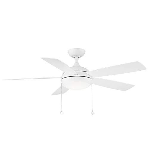 WAC Lighting F-002L-MW Disc Ceiling Fans, 52, Matte White