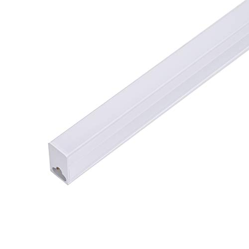 Bellanny LED Unterbauleuchte, 30cm LED Lichtleiste, 5W 1050LM LED Röhrenlampe, T5 Schrankleuchte LED Röhre LED Shop Licht, 3000-6000K Lichtfarben Dimmbar -1 Stück