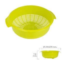 ORYX 5071065 Escurridor/Colador Cocina Ø 27 cm, plástico, Verde