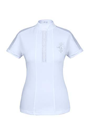 Interapi Fairplay Damen Turniershirt FP Claire, Pearl-White,Kurzarm, Größe:36