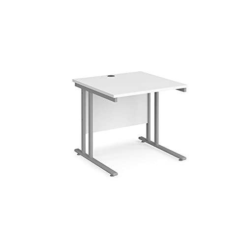 DAMS Maestro 25 - Escritorio rectangular (800 mm, con patas en voladizo), color blanco