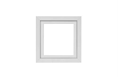 Instagram Square 3D Deep Box Frame Range Picture/Photo/Poster Frame Poster Display with Bespoke Mount - White Frame with White Bespoke Mount - 8'x8' for 6'x6' pictures - FBA - m-3D-DeepBox-wht-wht-8-8
