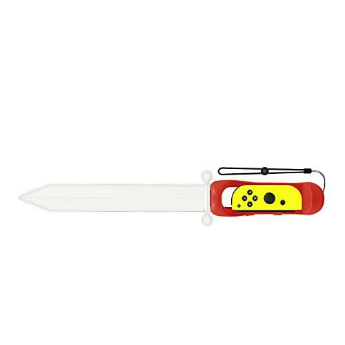 TwiHill the Legend of Zelda Sky Sword é adequado para Nintendo Switch, a espada The Legend of Zelda Sky Sword joycon direito lidar com espada brilhante somatossensorial Nintendo Switch jogo sabre de luz (Vermelho)