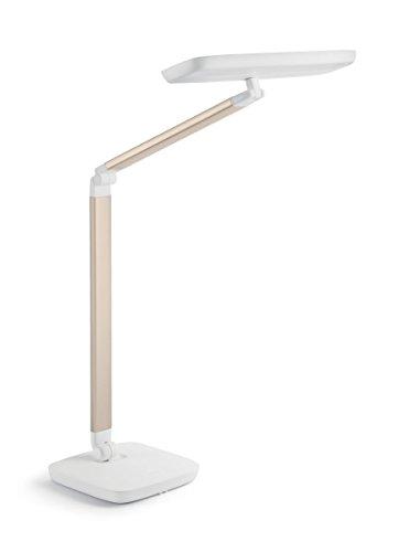 Philips Gadwall - Lámpara LED de escritorio, 4 escenas de iluminación, 11 W, color dorado