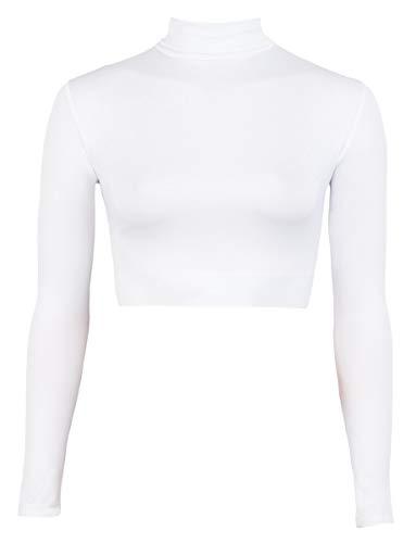 Cheer Fantastic Turtleneck Midriff Size Large White