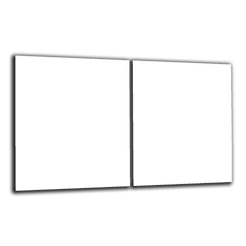 Decoración welt | Tapa para vitrocerámica, 2 x 40 x 52 cm, universal, 2 piezas, para placas de cocina de cristal de inducción, protección contra salpicaduras