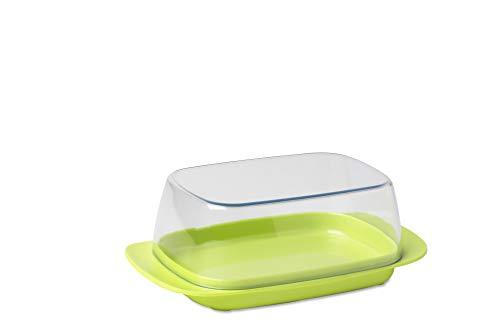 Mepal Butterdose Latin Lime – für 250 g Butter – transparenter Deckel – passt genau in die Kühlschranktüre – spülmaschinenfest, Melamine/SAN, 17 x 9.8 x 6 cm