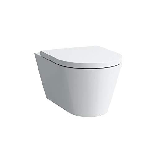 Laufen Kartell Wand-WC, Tiefspüler, spülrandlos, 545x370x355, Farbe: Weiß mit LCC