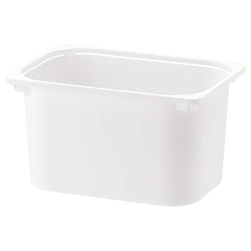 IKEA TROFAST Caja apilable de almacenamiento, plástico fuerte [blanco] elegir el tamaño a continuación (tamaño: 42 x 30 x 23 cm) (L42 x W30 x H23 cm)