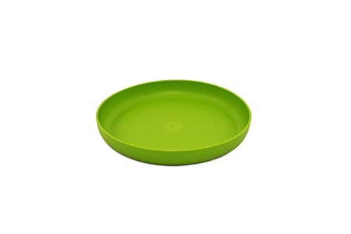 ajaa! Bio Geschirr - Teller aus nachwachsenden Rohstoffen ohne Melamin, ohne Weichmacher wie BPA, plastikfrei (Lime)