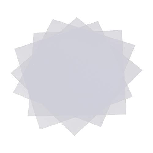 Artibetter 20 Piezas Fusible Grano Hierro Papel Transparente Plantilla Hoja de Planchar de Plástico para Niños Manualidades Diy Rompecabezas Frijoles Accesorios de Juguete