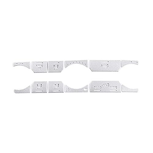 QINQIN Adesivi per pulsante del condizionatore d'aria per auto, per Land Rover Range Rover Evoque 2012-18