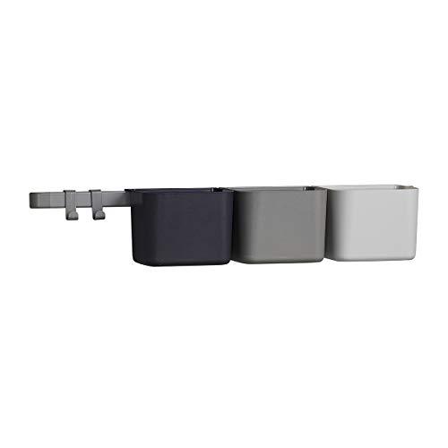 Unbekannt Leander Organisationselemente 3 Stück Boxen + 1 Lange Schiene + 2 Haken in der Farbe Dusty Grey