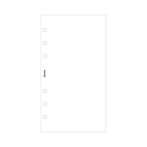 Filofax 132451 Personal Notizpapier, blanko, weiß